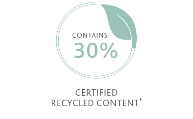 30% Certified recycled content