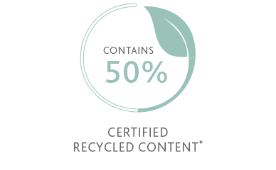 50% Certified recycled content