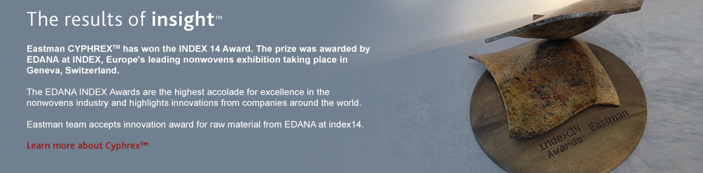Eastman CYPHREX™ has won the INDEX 14 Award.